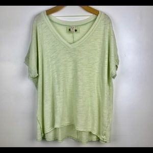 Free People Take Me Tee Green